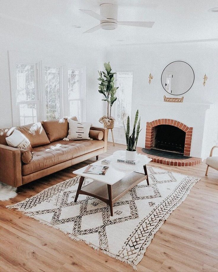 White Color Is Also Favorite Of Some People Who Like Bohemian Lifestyle This Interior Decor Bohe Industrial Decor Living Room Apartment Decor Room Inspiration