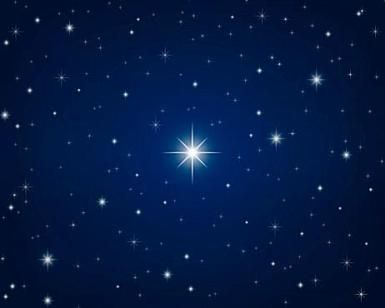 Can physics tell us anything about the legendary Christmas star?: A star-filled midnight blue sky.