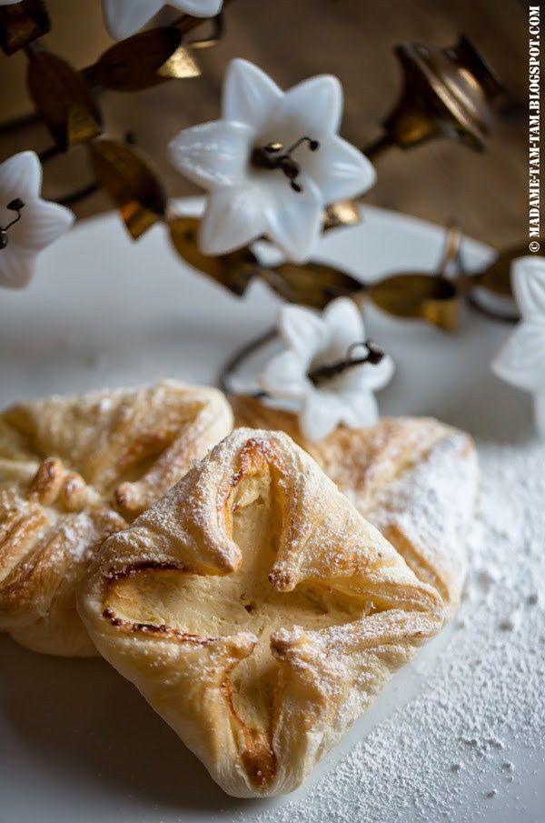 Der Winter wird ... beige ... mit Blätterteigdreierlei: Blätterteigschnecken, Zimtapfel im Blätterteig und Quarkplundern! - marieola - food and lifestyle blog
