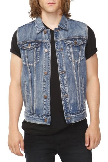 Amazon.com: Rude Stone Wash Denim Vest: Clothing