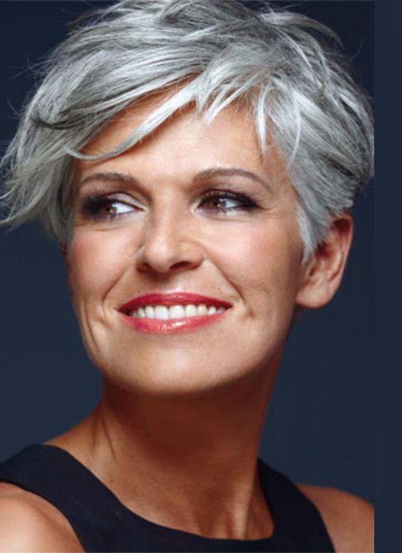 Short Asymmetrical Haircut for Women Over 50