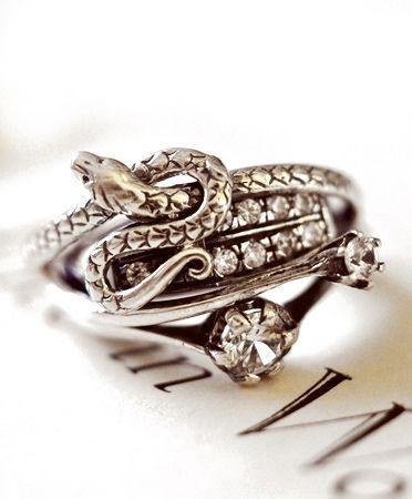 Silver Snake Zircon #ring by #iosselliani