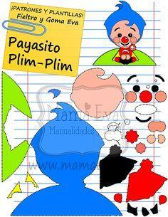Plantillas Personajes Actuales El Payaso Plim-Plim
