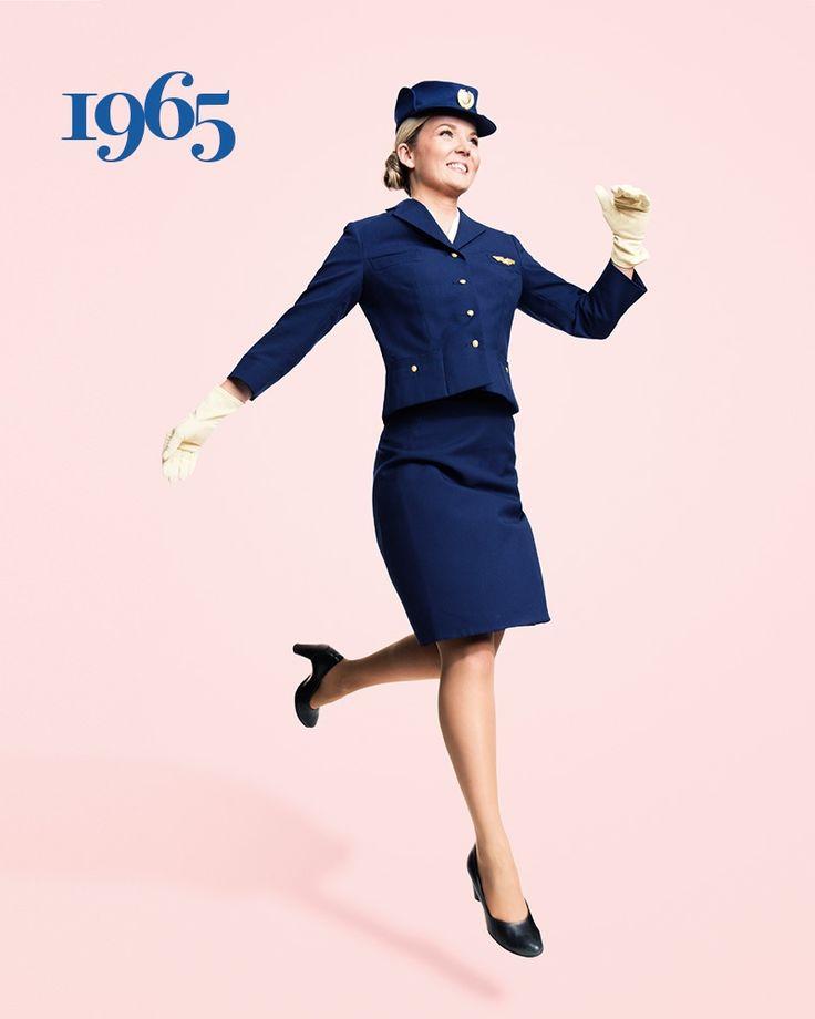SAS flight attendant Ellinor Wickbom, here showing off the Carven uniform, has worked for SAS since 2012. Photo: Karl Nordlund