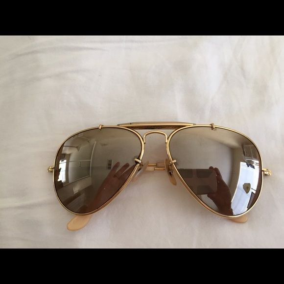 Vintage ray ban aviators 50th anniversary vintage ray bans made by bausch lomb the general - Ray ban aviator lenti a specchio ...
