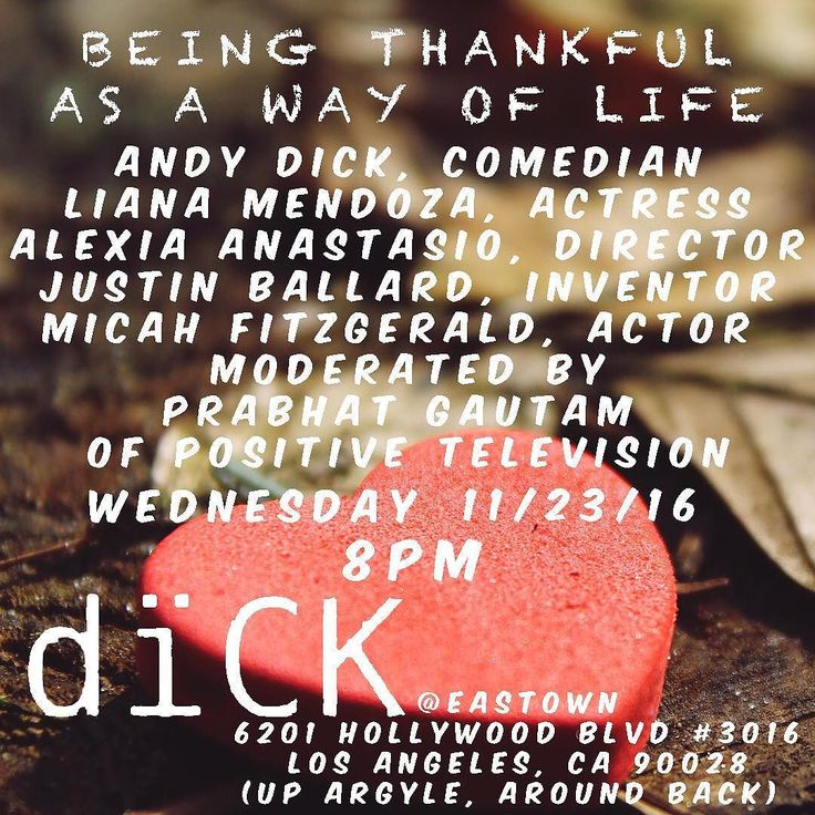 "Wednesday sounds like it is going to be a good day. #grateful for being part of a panel with some amazing people that believe ""Being Thankful is a way of life"" with @andydick @cleanwaterplease @micahfitzgerald @vegangodfather @mslianamendoza in Hollywood at Andy Dick's gallery at @eastownla 6201 Hollywood Blvd. Los Angeles CA 90028 (up argyle around back) Join us! It is a free event. Accepting donations always."