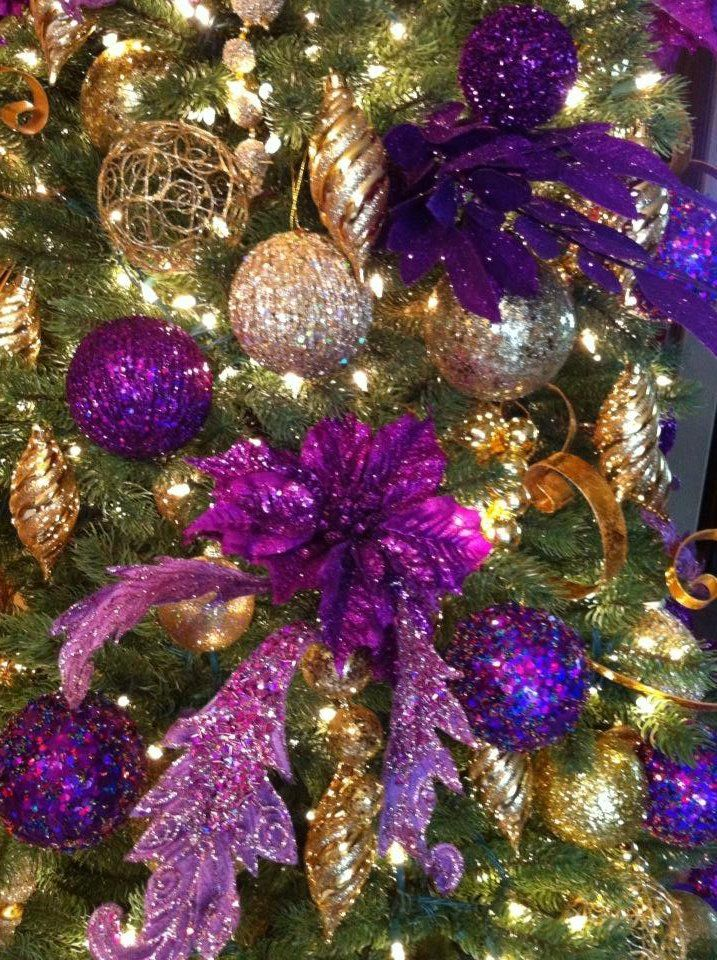 Purple And Black Christmas Tree Decorations : Best ideas about gold christmas tree on