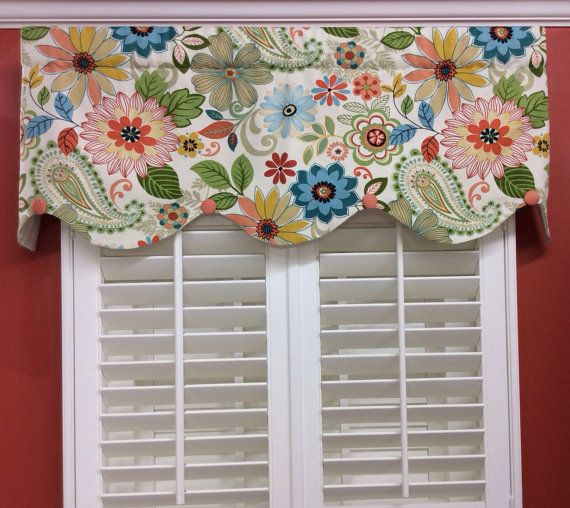 Whimsical Window Valance With Buttons By CurtainsBlindsBath 5499