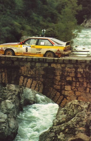 audi quattro rally car don't get eaten by the crocs