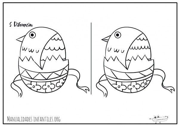Juego de las diferencias para Pascua