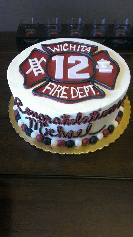 Mike's Fire Academy Graduation cake, Firefighter Graduation Cake, WOW Cakes, World of Wedding Cakes