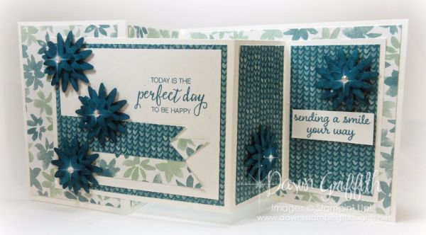 Double Z Fold card video  (Dawns stamping thoughts Stampin'Up! Demonstrator Stamping Videos Stamp Workshop Classes Scissor Charms Paper Crafts)