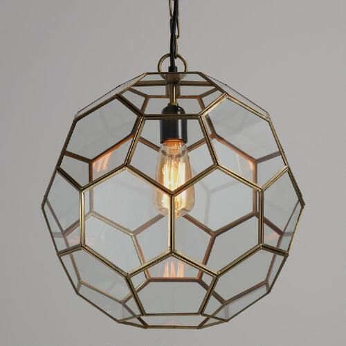 One of my favorite discoveries at WorldMarket.com: Faceted Glass Paxton Pendant