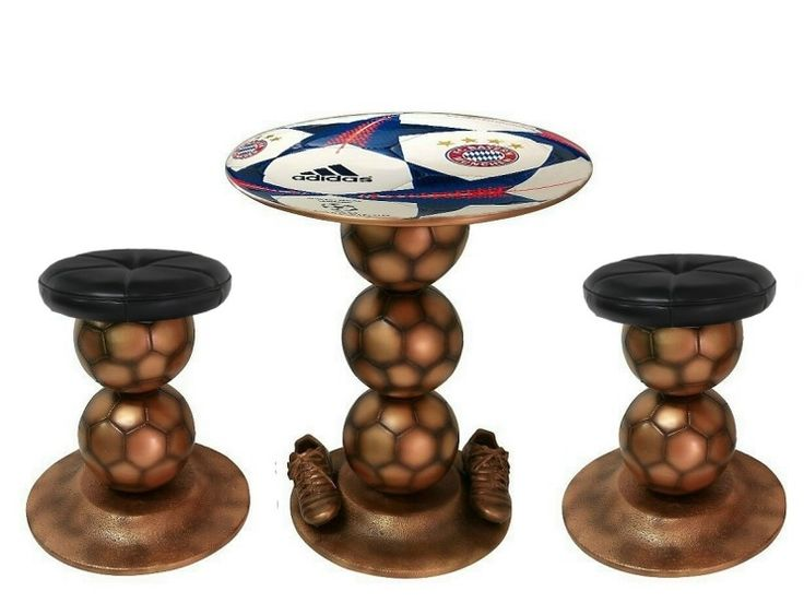 B0467 - Bronze Football Ball Table & Chairs - FC BAYERN MUNCHEN - All Teams Clubs Available - B0467 - Bronze Football Ball Table & Chairs - FC BAYERN MUNCHEN - All Teams Clubs Available.jpg