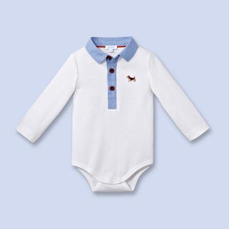 Body à col polo pour bébé, garçon