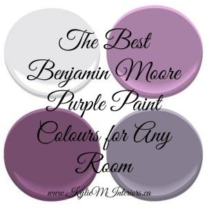 The best most popular benjamin moore purple paint colours for any room in your home.  This decorating blog highlites some of the best Ben Moore paint colours #purple #purplepaint #colour #benjaminmoore #kylieminteriors
