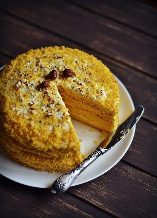 Тыквенно-апельсиновый торт......