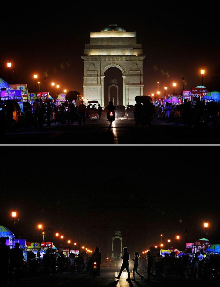 Nueva Dehli, India. Apagón mundial en la Hora del Planeta.