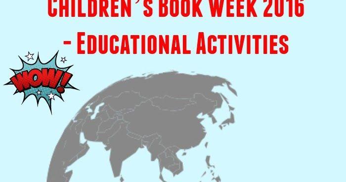 Children's Book Week 2016 - Educational Activities