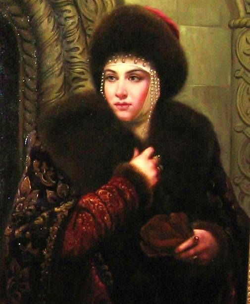 Potrait of Marfa Sobakina, third wife of the famous Russian Tsar Ivan the Terrible