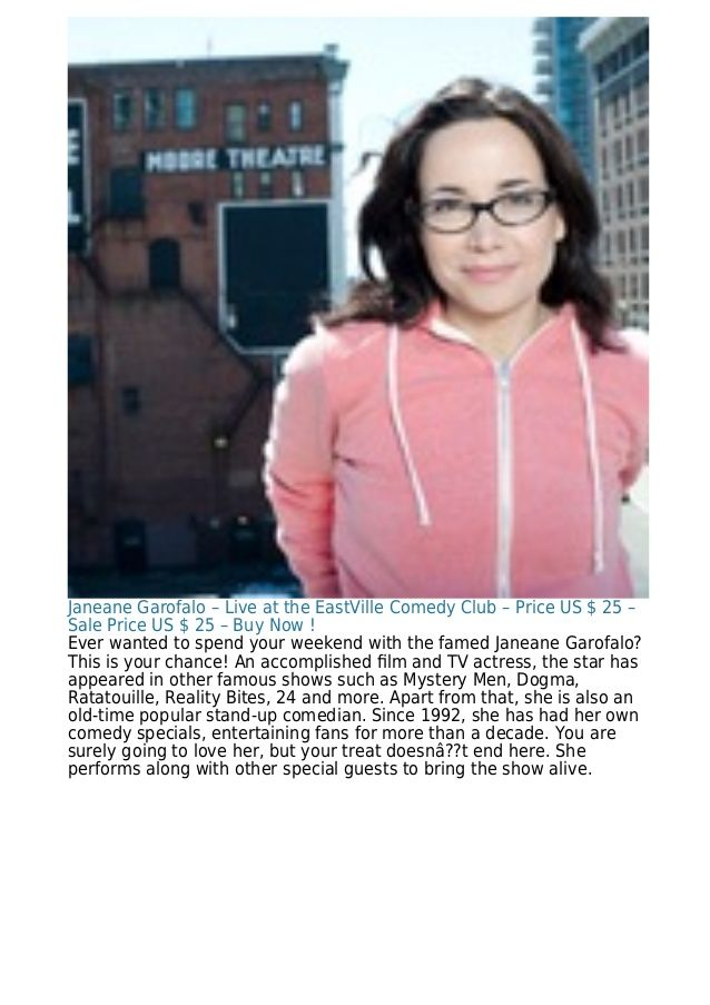 Janeane Garofalo – Live at the EastVille Comedy Club – Price US $ 25 – Sale Price US $ 25 – Buy Now ! Ever wanted to spend...