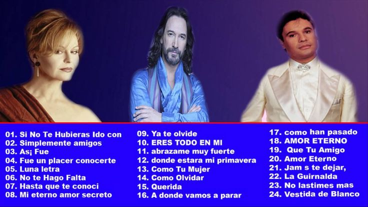 Marco Antonio Solis, Ana Gabriel  Y Juan Gabriel, Rocio Durcal sus mejor...