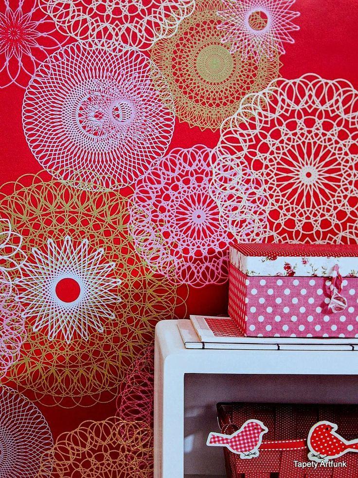 Tapety ścienne koronki, tkaniny - aranżacje i wzory - sklep Artfunk
