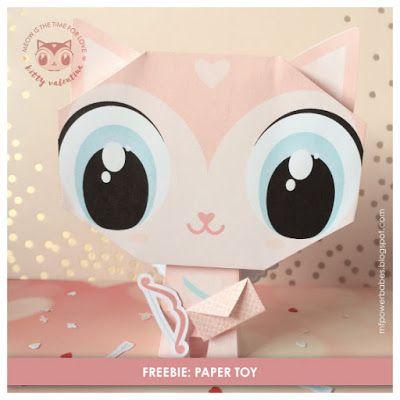 Kitty Valentina Paper Toys // mfpowerbabes