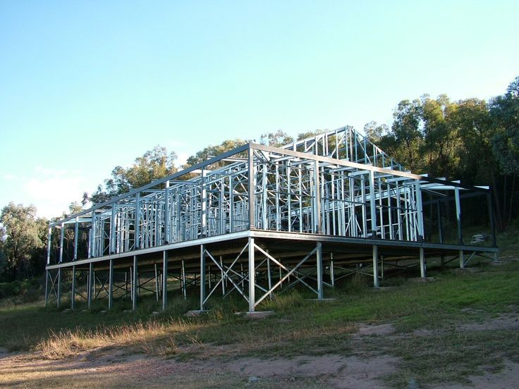 Spantec Steel Floor and EziPiers- Steel wall and roof frames also installed