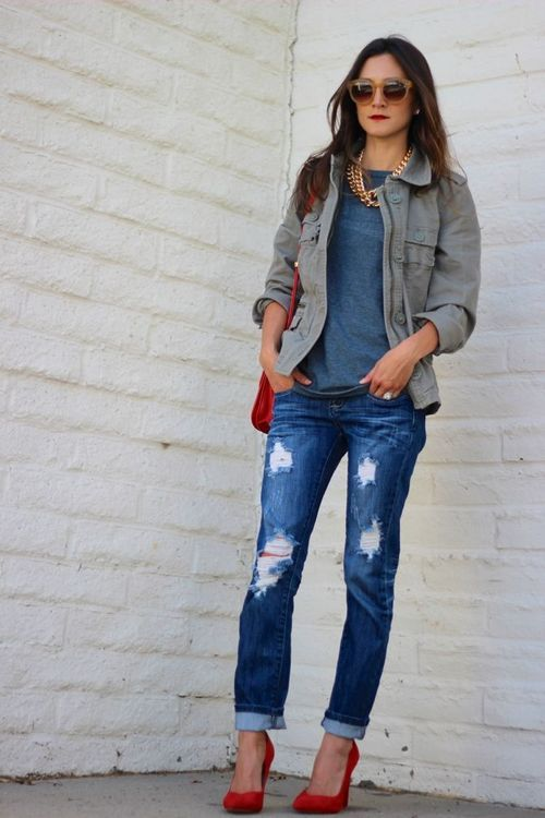 boyfriend jeans: a collection of Women's fashion ideas to try ...