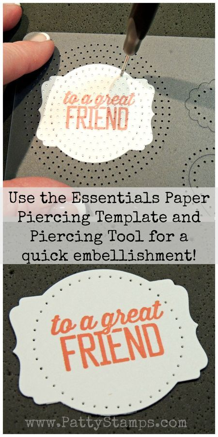 Turn an ordinary stamped tag into something special with a Stampin' UP! piercing template, piercing tool and piercing mat! #stampinup
