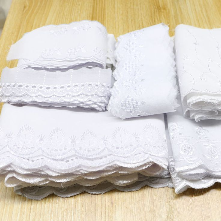 Wide 3-15 white cotton lace  fabric, DIY material garment accessories mixed size 20 yards #>=#>=#>=#>=#> Click on the pin to check out discount price, color, size, shipping, etc. Save and like it!