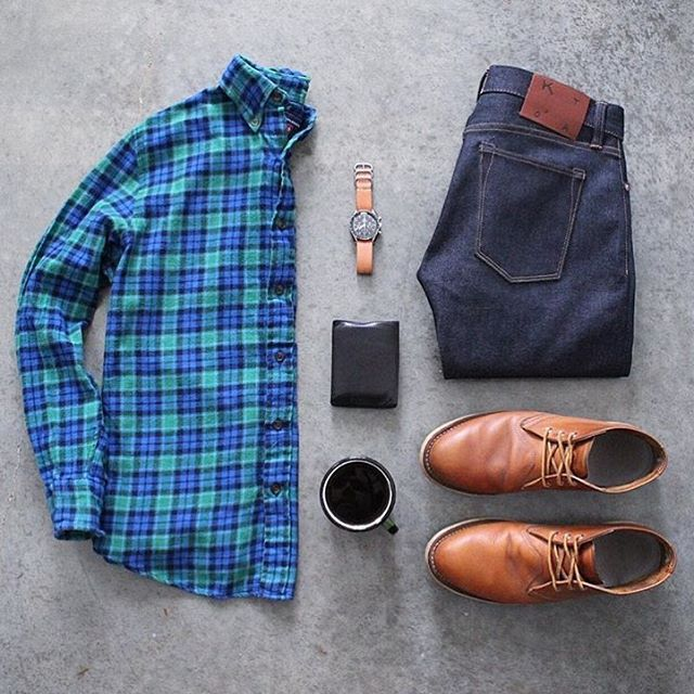#SuitGrid by: @awalker4715 ________________________________________  Follow @inisikpe for daily style/advice #SuitGrid to be featured  IniIkpe.com for fashion updates and more ________________________________________ Tap For Brands Denim: @katobrand Shoes: @redwingheritage Watch: @omega Watch Band: @americannativegoods