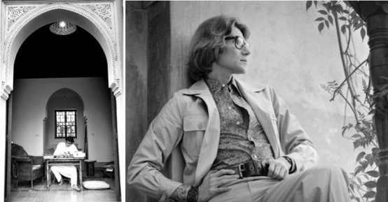 Yves Saint Laurent at home in Marrakech Morocco !