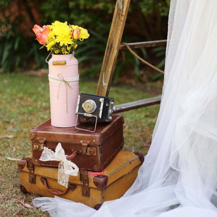 Our vintage suitcases and props will make the perfect addition to your special day. www.thevintageway.com.au