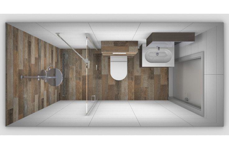 25 beste idee n over kleine badkamer indeling op pinterest moderne kleine badkamers kleine - Meubilair vormgeving van de badkamer dubbele wastafel ...