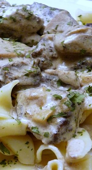 Beef Stroganoff (Russian Style) Forget all those jars, packets and boxes. This is the real thing. Easy too!!!