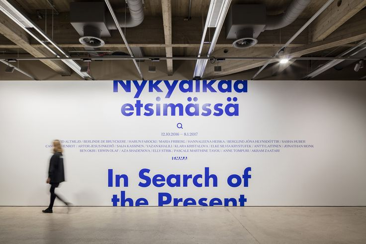 In Search Of The Present at EMMA by Werklig, Finland. #branding #typography