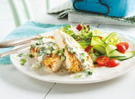Oven-Baked Crispy Greek Chicken - My Milk Calendar Recipes | Dairy Goodness