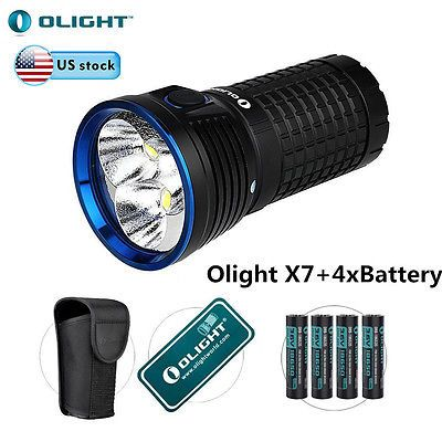 X7 Marauder (X7) is a portable LED flashlight with a side-switch, delivering a maximum output up to 9,000 lumens.
