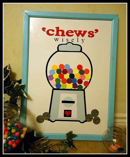 """""""chews"""" wisely. cute idea for downtime activity. {tutorial is to make it for home as a chore chart}"""