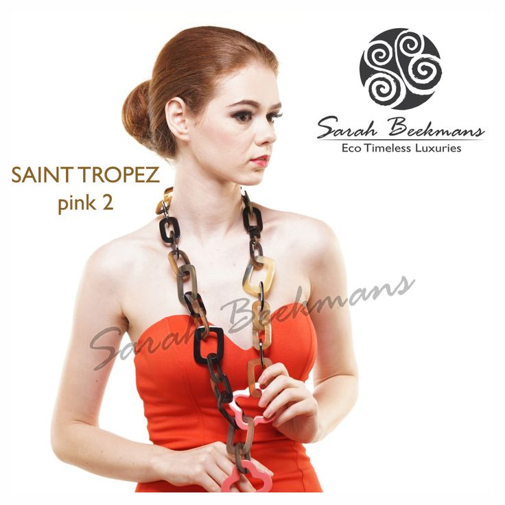 Sarah Beekmans horn necklace. To order please purchase directly at our website at : www.sarahbeekmans.com/shop or please contact our friendly customer care team at : +62-811-998-5858