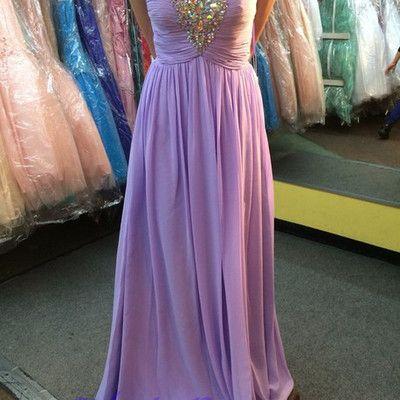 Chiffon prom dresses,lilac evening dress,sweetheart prom dress,beading prom dress,sequins prom gown,sexy prom dress,long prom gown,modest evening gown