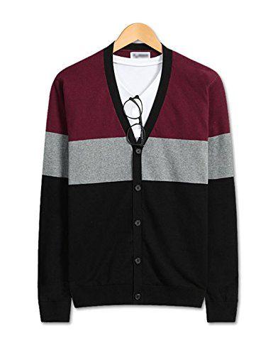 Showblanc (SBSBGA15) Attractive People Urbane 3 Striped Color Knitwear Cardigan WINE Large(Chest 38) Showblanc http://www.amazon.com/dp/B0151N0KNW/ref=cm_sw_r_pi_dp_AWVlwb1SZ0E8F