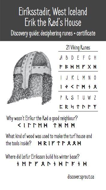 Decode viking runes to learn about Erik the Red, Eiriksstadir, West Iceland