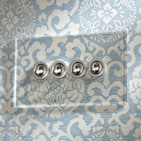 Invisible Four Gang Lightswitch with Stainless Steel Dolly Switches Forbes and Lomax
