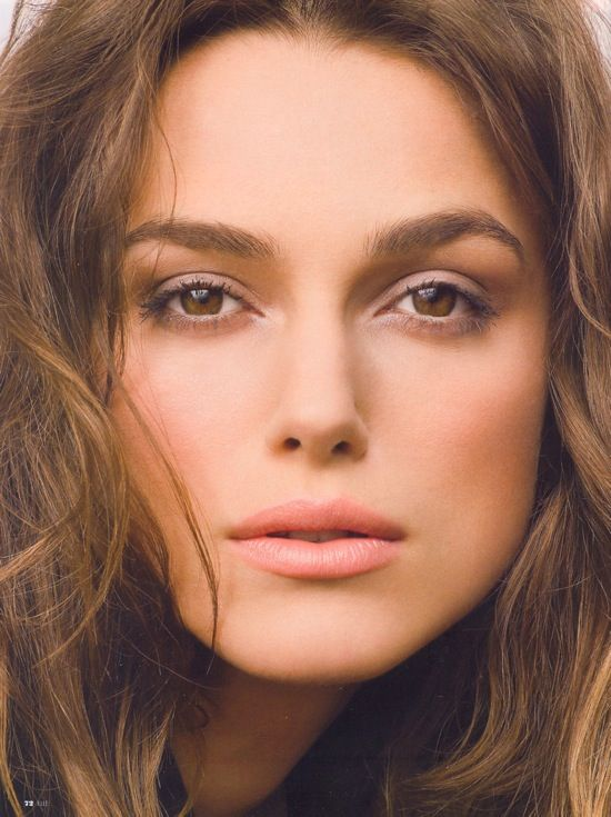 Keira Knightley. Love the natural makeup.