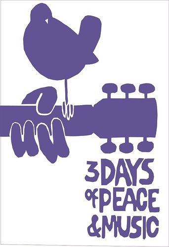 This Day in History:  Aug 15, 1969: The Woodstock festival opens in Bethel, New York  http://www.woodstockstory.com/images/gallery/woodstock-poster-purple.jpg