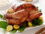 Baste skin with 1/4 pound (1 stick) unsalted butter 1 lemon, zested and juiced 1 teaspoon chopped fresh thyme leaves
