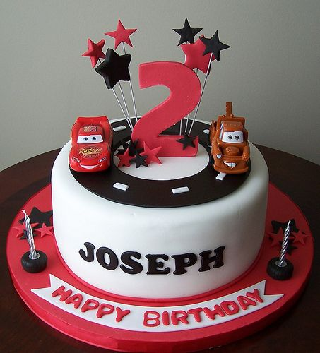 "Cars cake | 9"" fondant covered cake , with gumpaste/fondant … 